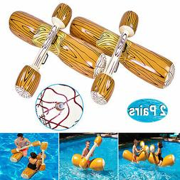 Pool Log Flume Joust Set Inflatable Float Water Sport Toy Sw