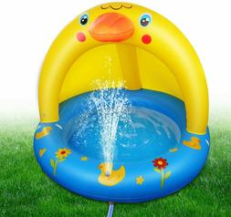 Pool Splash Inflatable Play Duck with Sprinkler Outdoor Wate
