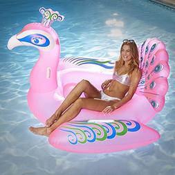 Aqua Giant 6 Foot, Princess Peacock Inflatable Pool Float, L