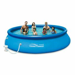 Summer Waves 15 Ft. Quick Set Inflatable Above Ground Pool w