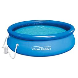 Summer Waves 10 Ft. Quick Set Inflatable Above Ground Pool w
