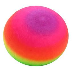 """Amyove 9"""" Rainbow Playground Ball with A Hand Pump for Infla"""