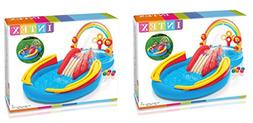 Intex Rainbow Ring Inflatable Play Center, 117 in X 76 in X