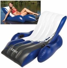 "Intex 58868EP 71"" X 53"" Blue & White Floating Recliner Loung"