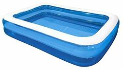 Jilong Rectangular Family Inflatable Pool for Ages 6+ Blue 1