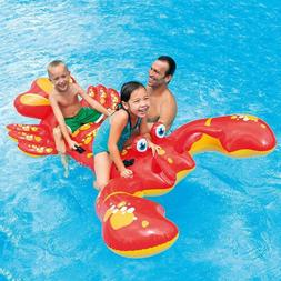 Red Lobster Pool Float Inflatable Intex Beach Lake Raft Loun