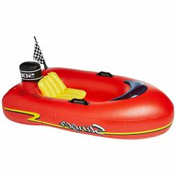 red speed boat inflatable toy kids ride