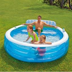 Intex Round Swim Center Inflatable Family Lounge Pool 88in X
