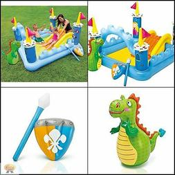 Safety Inflatable Pool for Kids Toddler Baby With Slide Drai