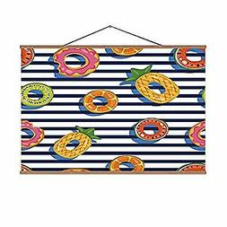 Seamless Swimming Pool Float Rings Pattern Prints,Top View I
