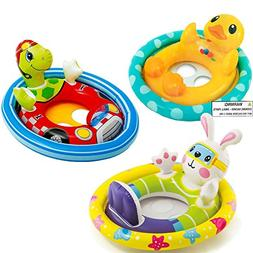 Intex See Me Sit Pool Rider Floats Ring Tube, Duck, Bunny &