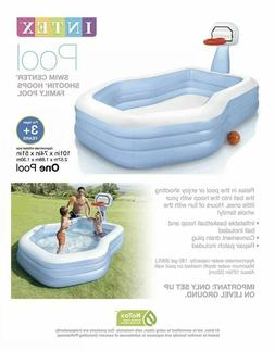 Intex Shootin' Hoops Swim Center Family Pool, for Ages 3+ Fa