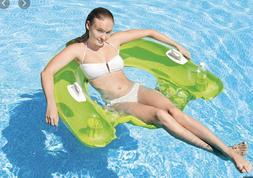 Intex Sit N Float Lounge Inflatable Adult Pool Float Lime Gr