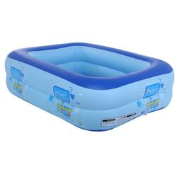 Small Inflatable Swimming Pool Kids Water Play Fun For One C