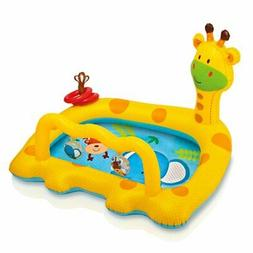 "Intex Smiley Giraffe Inflatable Baby Pool, 44"" X 36"" X 28 1/"