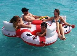"78"" Solstice Super Chill Quatro 4-Person Inflatable Swimming"