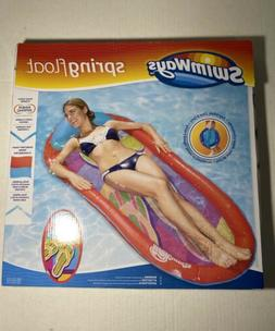 Swimways Spring Float Red Swimming Pool Inflatable Floating