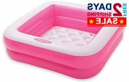 "33.5"" 15 Gal Small Square Inflatable Vinyl Kids Play Pool Fo"