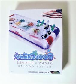 Stars & Stripes Inflatable Buffet Cooler Pool Candy, Great F