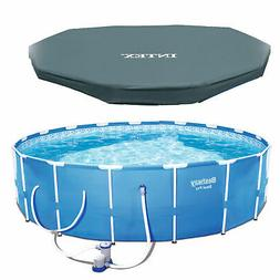 """Bestway Steel Pro 12' x 30"""" Frame Above Ground Pool Set with"""