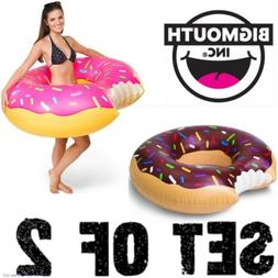 Strawberry & Chocolate Donut Pool Float Inflatable Tube ~ CO