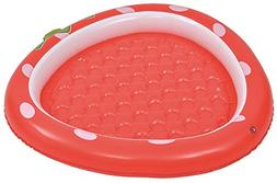 Jilong Strawberry Inflatable Baby Pool for Ages 1-3, Red, 37