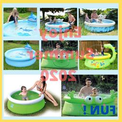 Summer Cartoon Animal Inflatable Play Swimming Pool Water Sp
