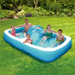 Summer Waves Inflatable Rectangular Swim Through Family Pool