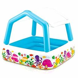"Intex Sun Shade Inflatable Pool, 62"" X 62"" X 48"", for Ages 2"