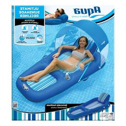 sunshade recliner inflatable pool lounger float canopy