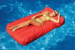Sunsoft Fabric Inflatable Mattress & Drink Caddy