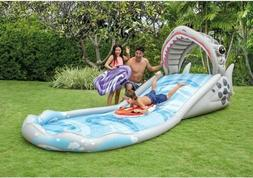 Intex Surf N Slide Inflatable Kids Water Slide Play Center S