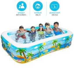 Swim Center Family Inflatable Pool Large Kiddie Inflatable S