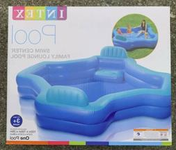Intex Swim Center Family Lounge Inflatable Pool 105in X 105i