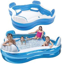 "Swim Center Family Lounge Inflatable Pool, 90"" X 90"" X 26"","