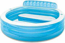 "Intex Swim Center Inflatable Family Lounge Pool, 90"" X 86"" X"