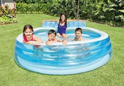 "Intex Swim Center Inflatable Family Lounge Pool 90"" x 86"" x"