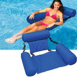 Swimming Floating Chair Pool Seats Inflatable Lazy Water Bed