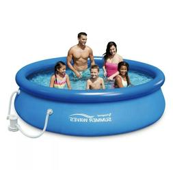 Swimming Pool Summer Escapes Above Ground Round Filter Set W