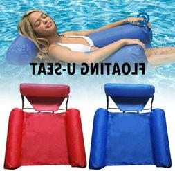 Swimming Pool Foldable Inflatable Seats Water Floating Bed C
