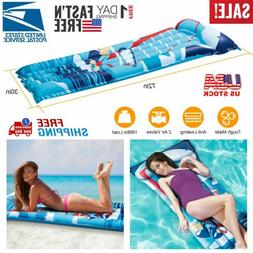 "72"" Inflatable Pool Water Air Mat Float Swimming Party Comfo"