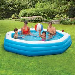 """Summer Waves Octagonal Inflatable Family Swimming Pool 110"""""""