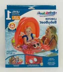 swimschool lobster inflatable baby boat sunshade float