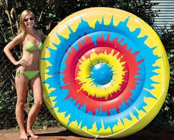Tie-Dye Island Novelty Circular Inflatable Pool Raft Float L