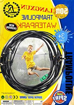 Langxun Trampoline Water Sprinkler Play For Kids summer Outd