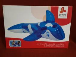 transparent inflatable whale rider 57 x 31
