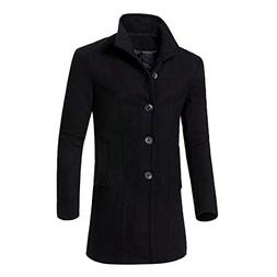 Mens Trench Coat Men Casual Jacket Warm Winter Long Outwear