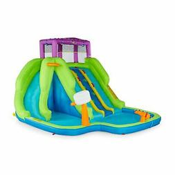 Kahuna Triple Blast Kids Outdoor Inflatable Splash Pool Back