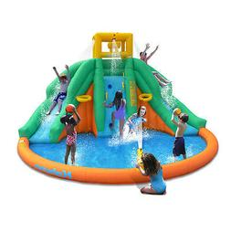 triple water slide park inflatable