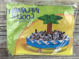 tropical palm tree inflatable cooler for beverages